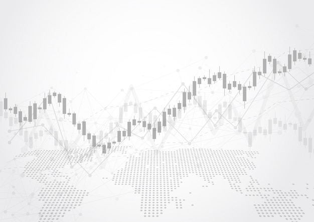 Zakelijke kaars stick grafiek grafiek van aandelenmarkt investeringen handel
