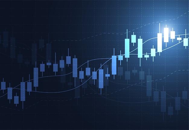Zakelijke kaars stick grafiek grafiek van aandelenmarkt investeringen