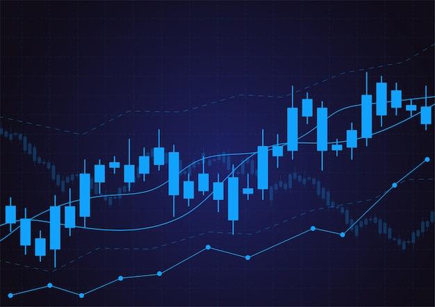 Zakelijke kaars stick grafiek grafiek van de aandelenmarkt