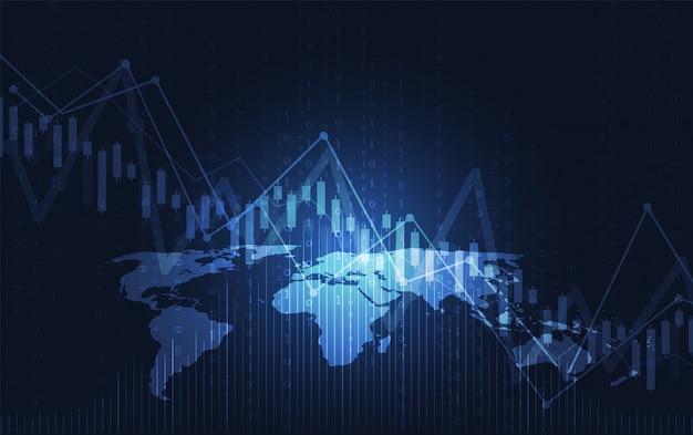 Zakelijke kaars stok grafiek grafiek van de beurs investering