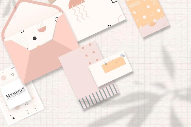 Zakelijke kaarten en briefpapier set