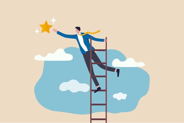 Zakelijke kans, ladder van succes concept.