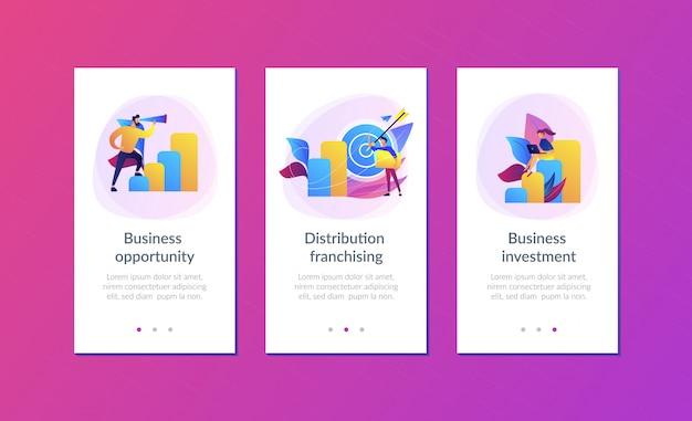 Zakelijke kansen app-interfacemalplaatje