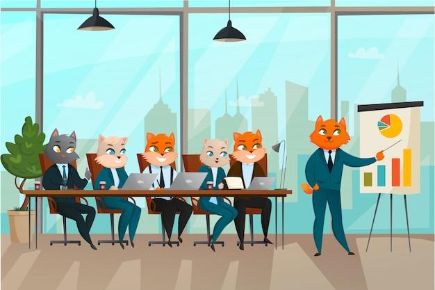 Zakelijke kat presentatie