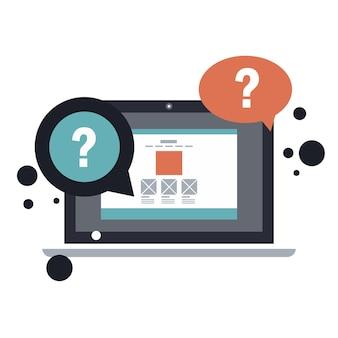 Zakelijke klantenservice dienstverleningsconcept