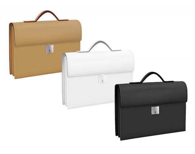 Zakelijke koffers ingesteld