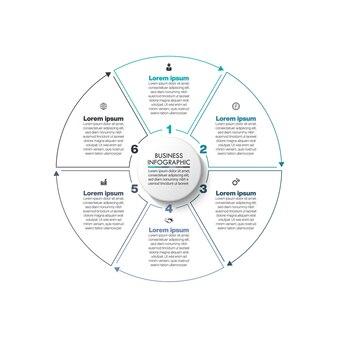 Zakelijke kring. tijdlijn infographic sjabloon