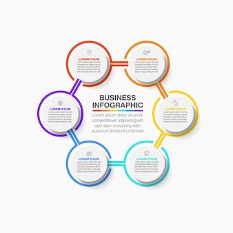 Zakelijke kring. tijdlijn infographic
