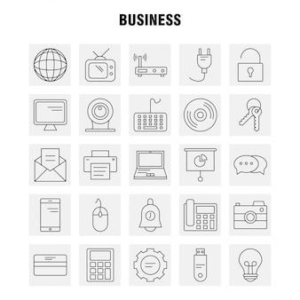 Zakelijke lijn pictogram