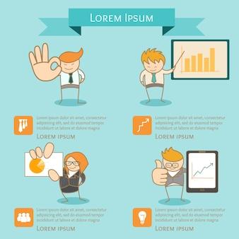 Zakelijke man infographic presentatie