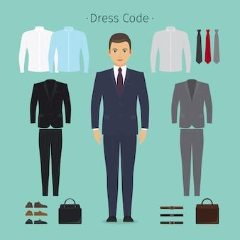 Zakelijke man kleding