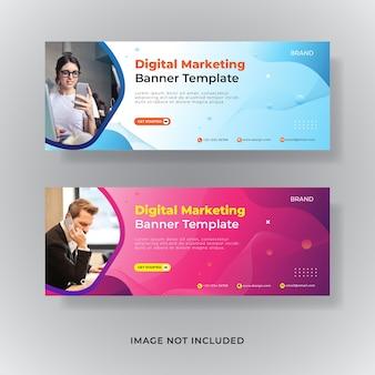Zakelijke marketing facebook omslag sociale media post banner