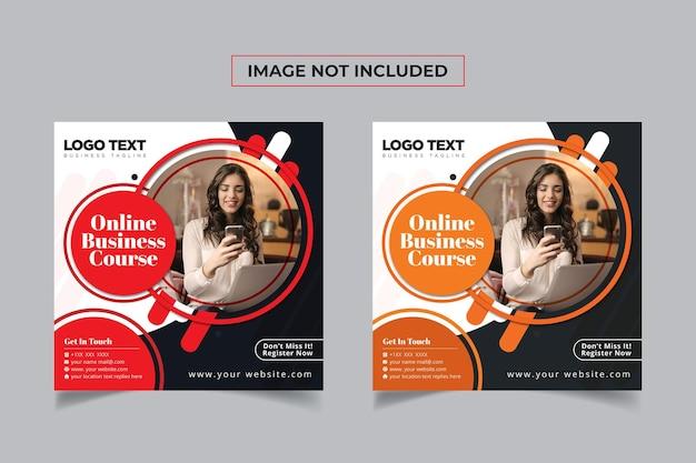 Zakelijke marketing online social media banner post