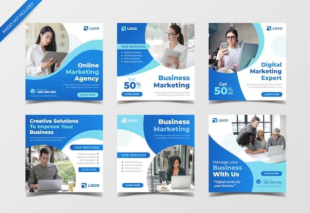 Zakelijke marketing sociale media-banner voor post op sociale media en digitale marketing