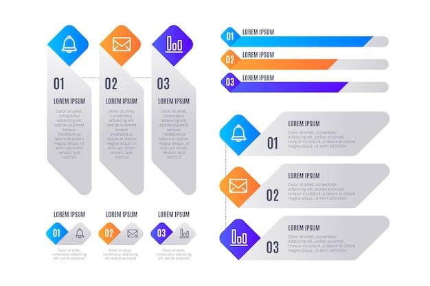 Zakelijke marketinggegevens visualisatie met elementen