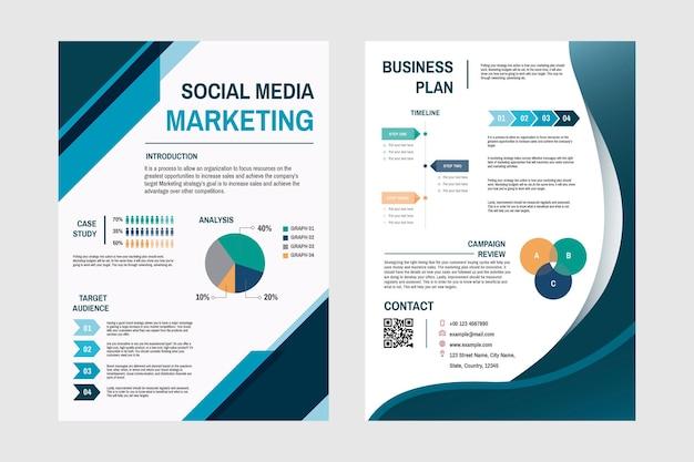 Zakelijke marketingplan sjabloon