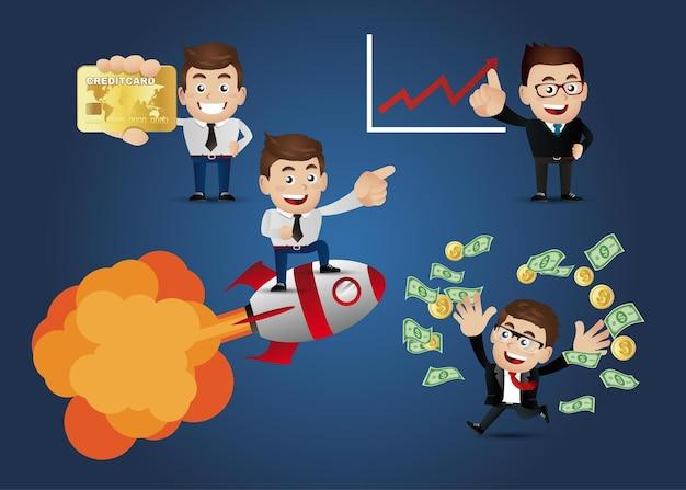 Zakelijke mensen financiële concept set