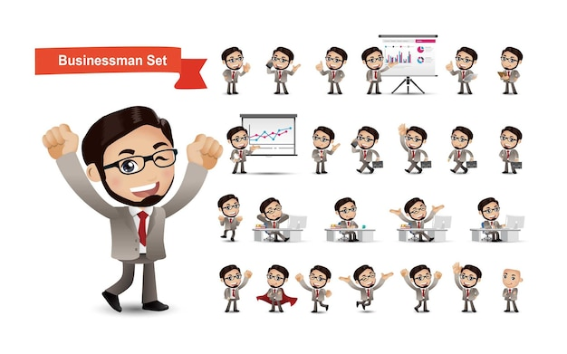Zakelijke mensen groep avatars karakters
