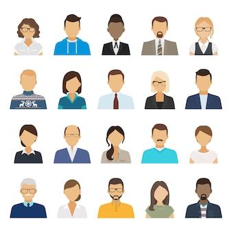 Zakelijke mensen platte avatars.