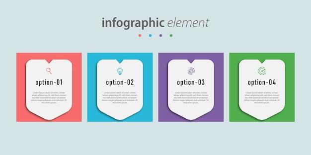 Zakelijke moderne sjabloonontwerp infographic