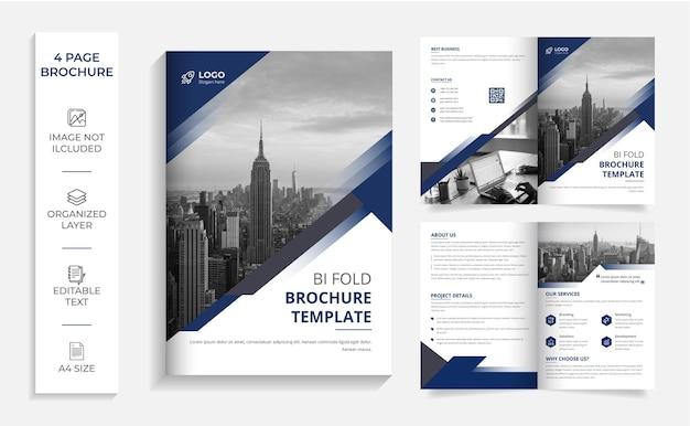 Zakelijke moderne zakelijke tweevoudige brochure sjabloon