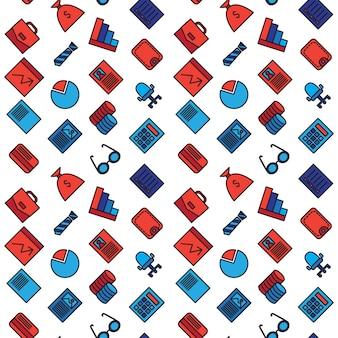 Zakelijke naadloze patroon. kantoor- en documentsymbolen.