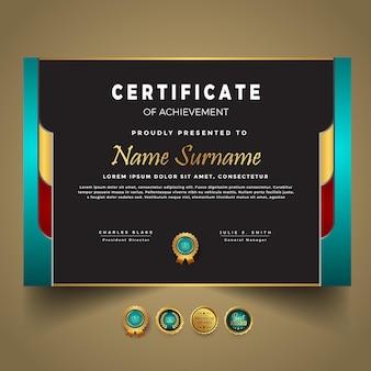 Zakelijke nieuwe certificaatsjabloon vector