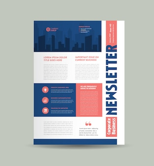 Zakelijke nieuwsbrief cover design   tijdschriftontwerp   maandelijks of jaarlijks rapportontwerp
