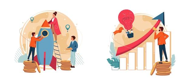 Zakelijke onderneming en nieuw idee