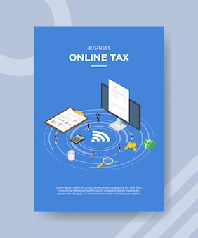 Zakelijke online belasting flyer-sjabloon