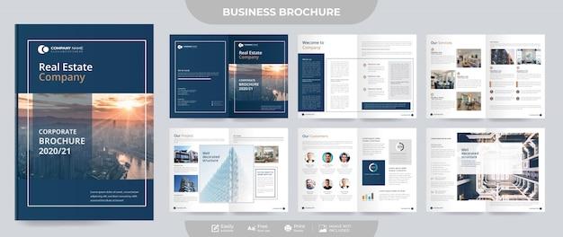 Zakelijke onroerend goed brochure en voorstel sjabloon