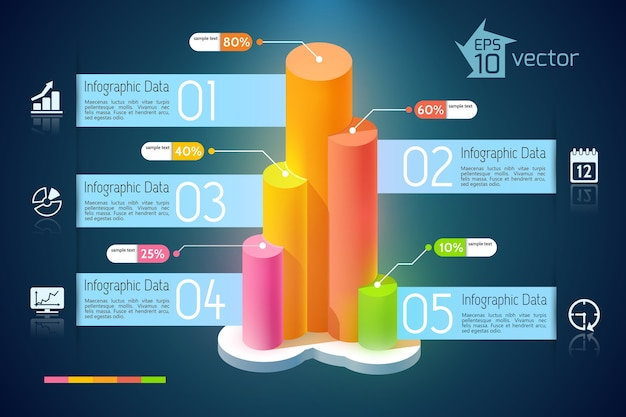 Zakelijke ontwikkeling infographics
