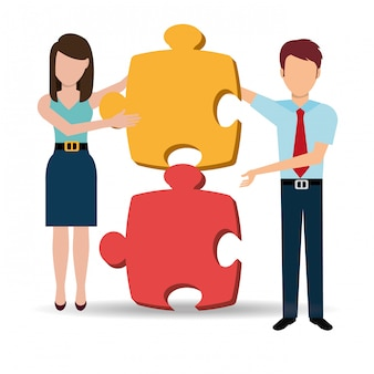 Zakelijke oplossingen en teamwork
