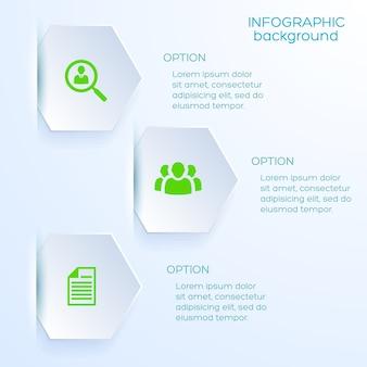 Zakelijke optie infographic sjabloon