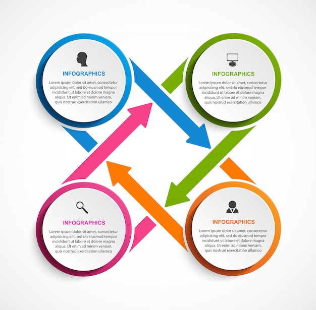 Zakelijke opties infographic sjabloon