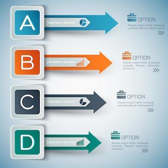 Zakelijke opties infographics