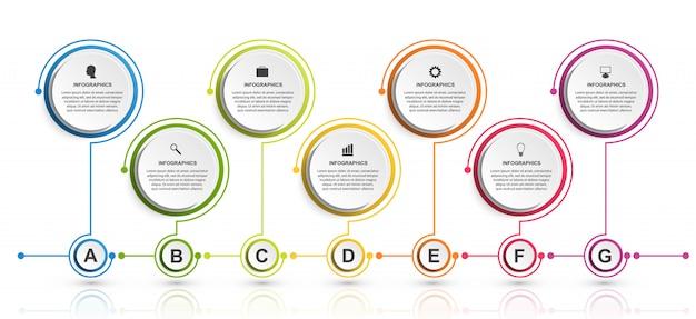 Zakelijke opties infographics.
