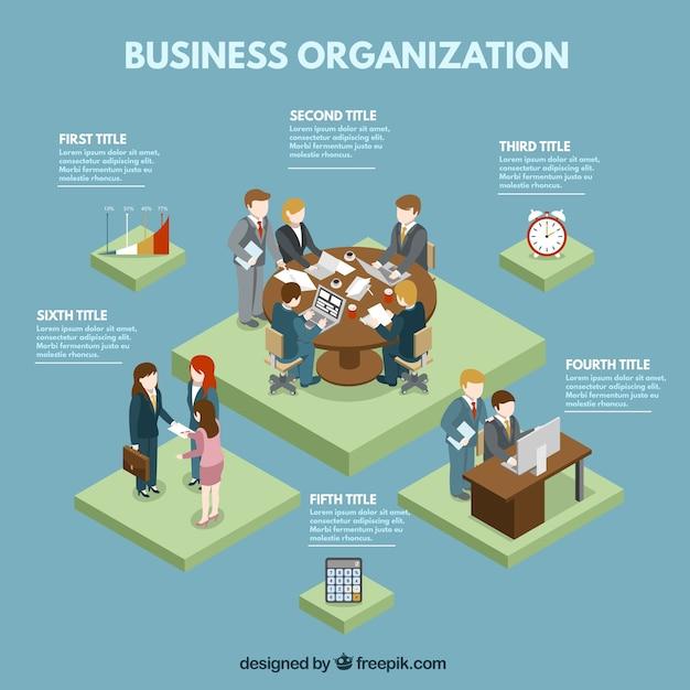 Zakelijke organisatie grafische