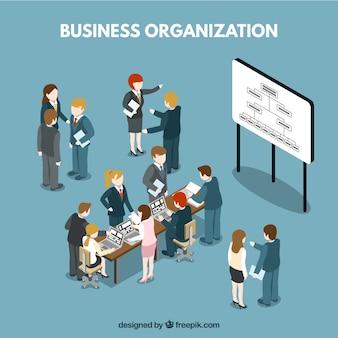Zakelijke organisatie situatie