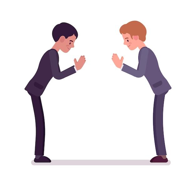 Zakelijke partners buigen