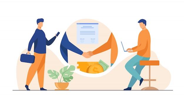 Zakelijke partners handdruk