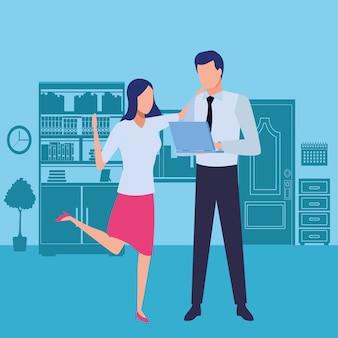 Zakelijke partners met documenten