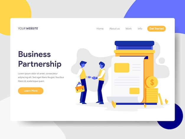 Zakelijke partnerschap illustratie