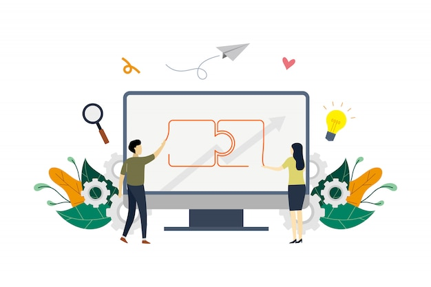 Zakelijke partnerschappen concept illustratie