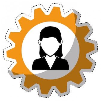 Zakelijke persoon pictogramafbeelding