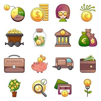 Zakelijke pictogrammen instellen