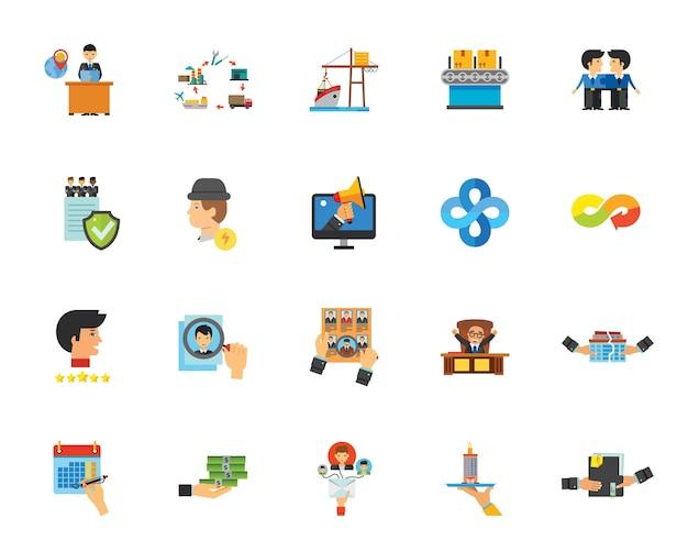 Zakelijke pictogramserie