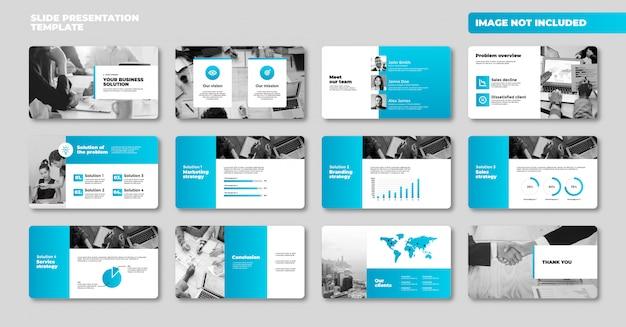 Zakelijke powerpoint-presentatiedia-sjabloon premium