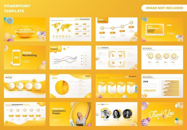 Zakelijke powerpoint presentatiesjabloon