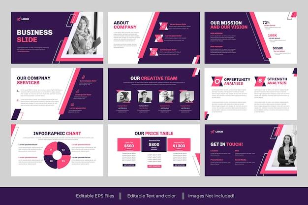 Zakelijke powerpoint-presentatiesjabloon